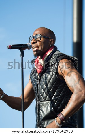 LINCOLN, CA - June 14: Amar Khalil of Tony!, Toni!, Tone!, performs in support of Summer Jam 2014 at Thunder Valley Casino Resort in Lincoln, California on June 14, 2014
