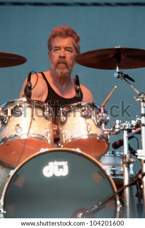 "LINCOLN, CA - JUNE 2: Doug ""Cosmo"" Clifford with Creedence Clearwater Revisited performs at Thunder Valley Casino Resort in Lincoln, California on June 2, 2012"