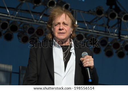 LINCOLN, CA - June 7: Eddie Money kicks off Thunder Valley Casino's 2014 Summer Concert Series with Rick Springfield and Loverboy at Thunder Valley Casino Resort in Lincoln, California on June 7, 2014 - stock photo