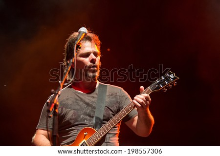 LINCOLN, CA - June 7: George Bernhardt with Rick Springfield opens Thunder Valley Casino's 2014 Summer Concert Series at Thunder Valley Casino Resort in Lincoln, California on June 7, 2014