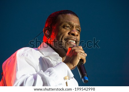 LINCOLN, CA - June 14: Keith Sweat performs in support of Summer Jam 2014 at Thunder Valley Casino Resort in Lincoln, California on June 14, 2014 - stock photo