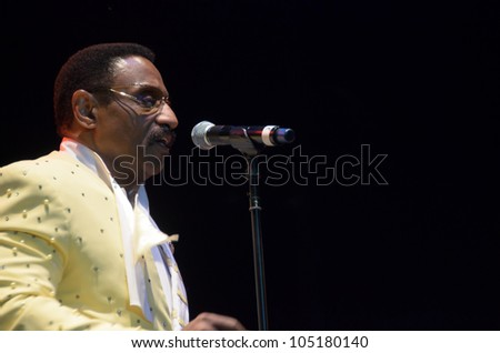 LINCOLN, CA - JUNE 8: Mike Patillo with The Temptations Review performs at Thunder Valley Casino Resort in Lincoln, California on June 8, 2012