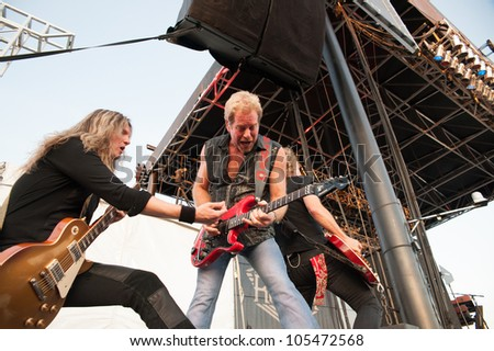 LINCOLN, CA - JUNE 15: Night Ranger performs at Thunder Valley Casino Resort in Lincoln, California on June 15, 2012