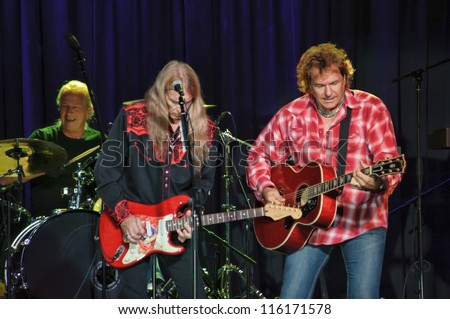 LINCOLN, CA - OCT 19: Country rock band The Outlaws perform at Thunder Valley Casino Resort in Lincoln, California on October 19th, 2012 - stock photo
