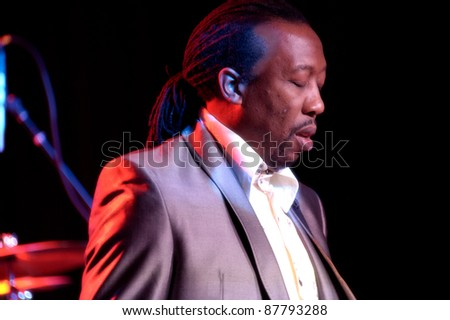 LINCOLN, CA - OCT 28: Melvin Gentry with Midnight Star performs at Thunder Valley Casino and Resort on October 28, 2011 in  Lincoln, California.