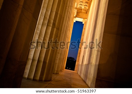 Lincoln Memorial Arches at Dusk