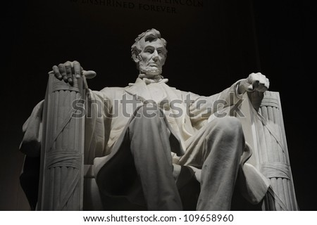 Lincoln Memorial at Night - stock photo