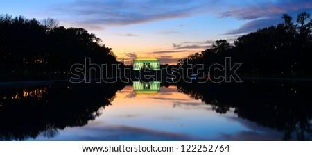 Lincoln Memorial at sunset - Washington DC United States - stock photo