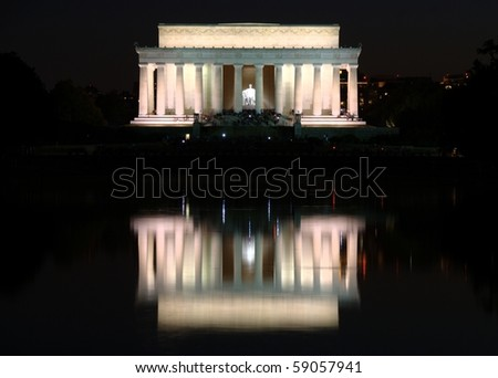 Lincoln memorial at the Mall, Washington DC, USA - stock photo