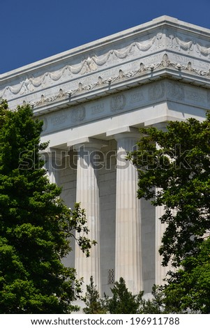 Lincoln Memorial in Washington D.C., United States  - stock photo