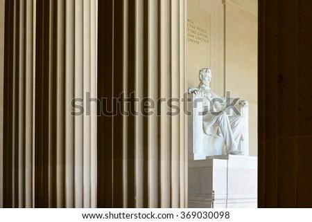 Lincoln Memorial - Washington DC, USA - stock photo