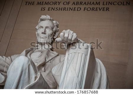 Lincoln, The Legacy of a President. Washington DC - stock photo