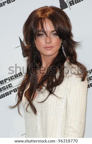 LINDSAY LOHAN at the 2005 American Music Awards in Los Angeles. November 22, 2005  Los Angeles, CA  2005 Paul Smith / Featureflash - stock photo