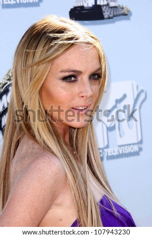 Lindsay Lohan  at the 2008 MTV Movie Awards. Gibson Amphitheatre, Universal City, CA. 06-01-08