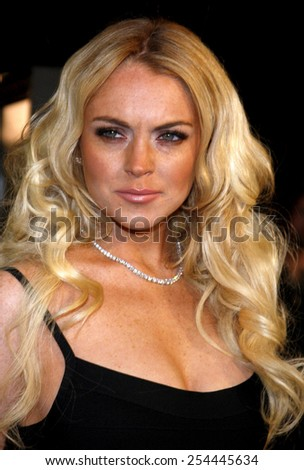 "Lindsay Lohan attends the Los Angeles Premiere of ""Cloverfield"" held at the Paramount Pictures Lot in Hollywood, California, United States on January 16, 2008."