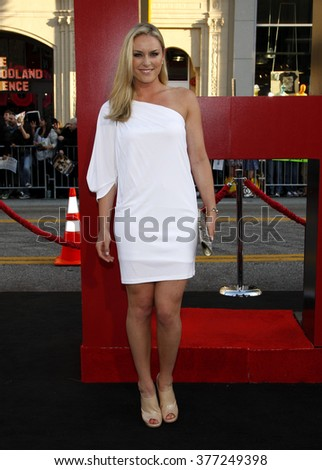 Lindsey Vonn at the Los Angeles premiere of 'The Hangover Part II' held at the Grauman's Chinese Theatre in Hollywood, USA on May 19, 2011.  - stock photo