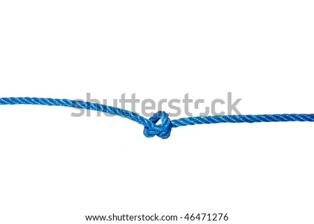line from knot on white background - stock photo