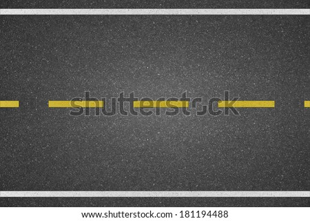 line marking on road texture background - stock photo