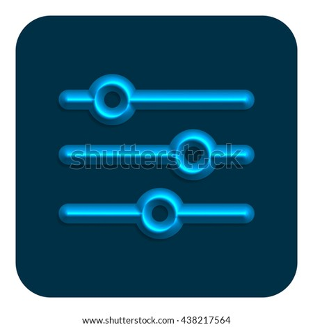 Line Neon Web Icon, Illustration Design Symbol