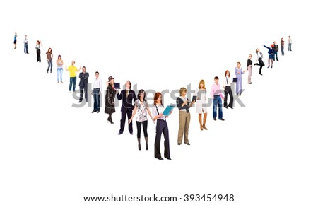 Line of Colleagues Perspective Concept  - stock photo