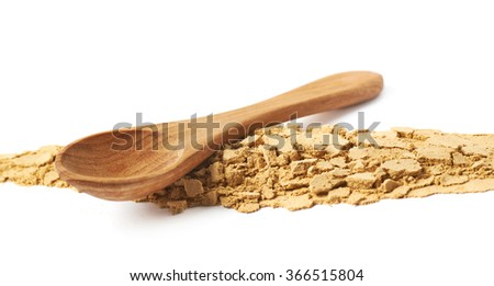 Line of ginger powder isolated - stock photo