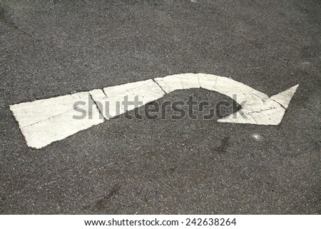 Line on the road - stock photo