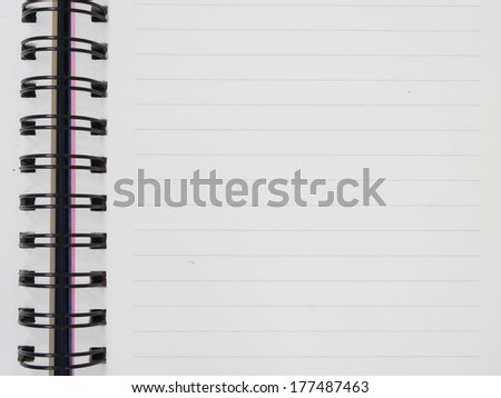 line open notebook texture soft paper