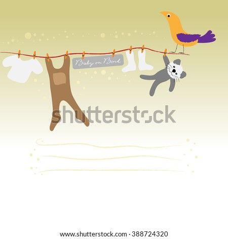 Line with babywear - stock photo
