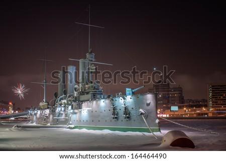 Linear cruiser Aurora - stock photo