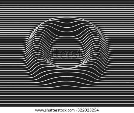 linear 3d font letter O - stock photo