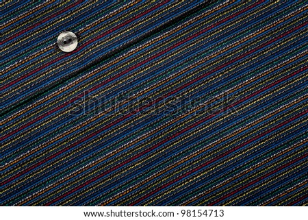 Lined fabric texture with button background
