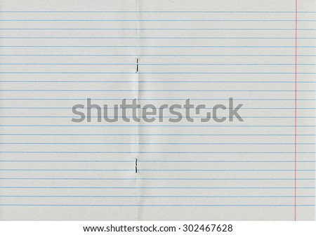 Lined notebook paper texture   - stock photo