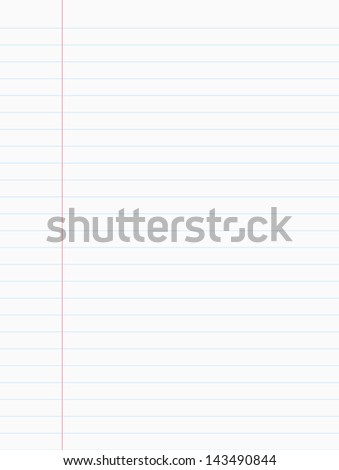 Lined paper and Note Paper - stock photo