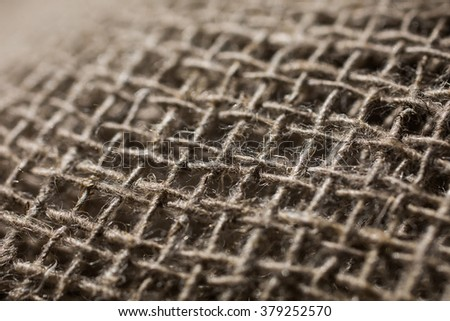 linen material, flax fiber, linen fabric, raw material, cloth bags, linen yarn, grunge texture, linen filament  - stock photo