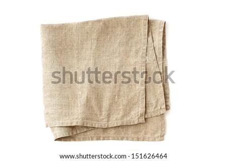 linen serviette - stock photo