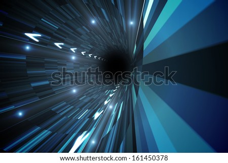 Lines of white arrows on futuristic background
