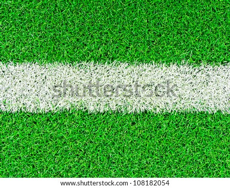 lines on soccer field - stock photo