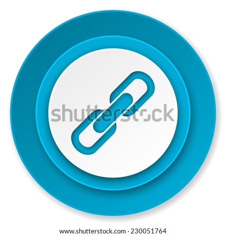 link icon, chain sign  - stock photo