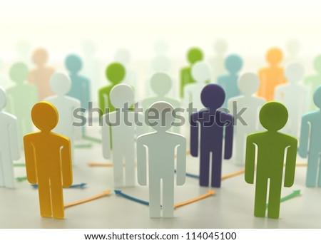 Linked People - stock photo