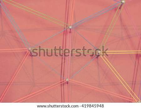 Linking entities. Network, networking, social media, internet communication abstract. A small network connected to a larger network. Network concept. - stock photo