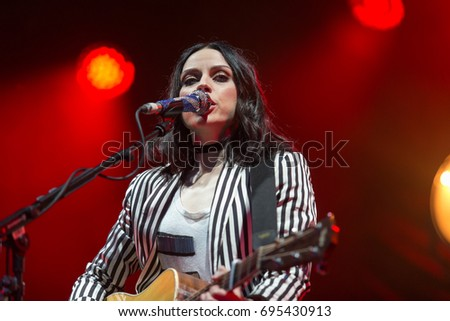 Linlithgow, Scotland 13th August 2017. Amy Macdonald headlines the second day of Party at the Palace #PARP17