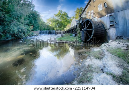 linney's mill on a sunny day - stock photo