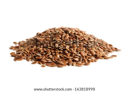 Linseed on a white background - stock photo