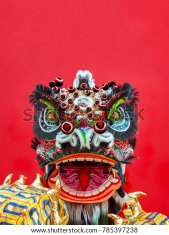 Lion Dance Costume used during Chinese New Year