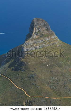 Lion Head Mountain, Cape Town, South Africa - stock photo