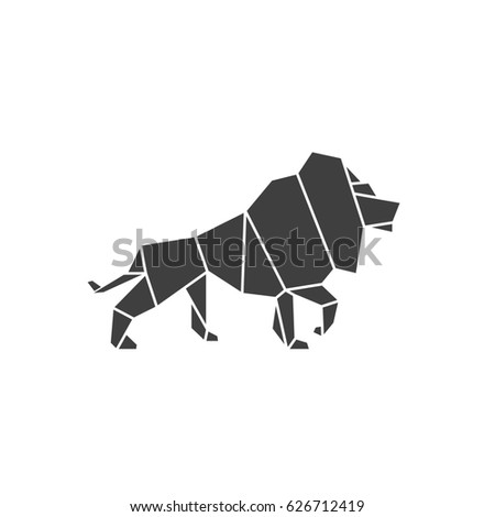 Lion Pride Logo Illustration Low Poly Style Design Modern Graphic Art