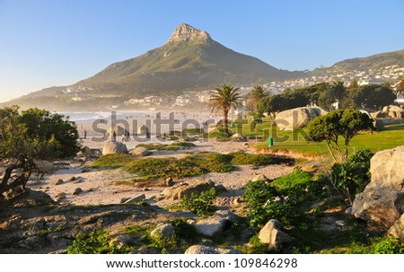 Lion's Head, Cape Town, South Africa - stock photo