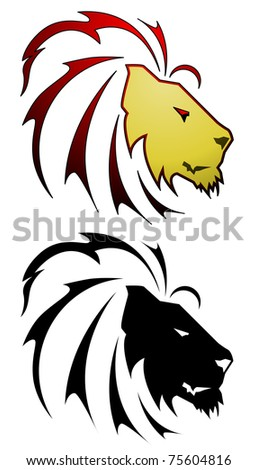 Lion tattoo - raster