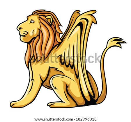 lion wings - stock photo