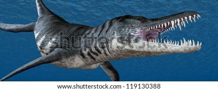 Liopleurodon Computer generated 3D illustration - stock photo